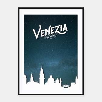 Thumbnail image of Venezia by Night Framed poster, Live Heroes