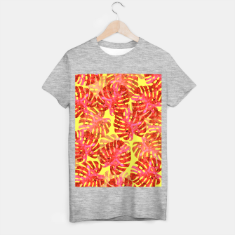 Thumbnail image of Red tropical leaves T-shirt regular, Live Heroes