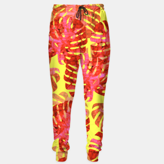 Thumbnail image of Red tropical leaves Sweatpants, Live Heroes