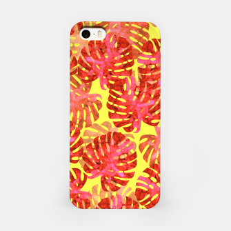 Thumbnail image of Red tropical leaves iPhone Case, Live Heroes