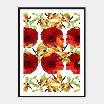 Miniatur Amapola Poppy Framed poster, Live Heroes