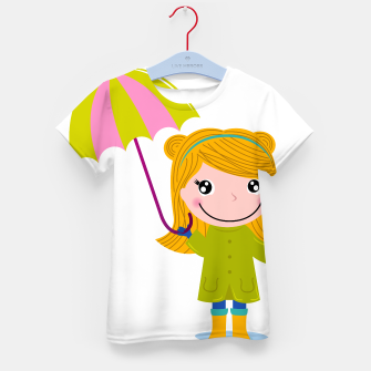 Thumbnail image of Kids designers t-shirt with Blond girl, Live Heroes