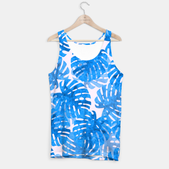 Thumbnail image of Blue tropical leaves Tank Top, Live Heroes