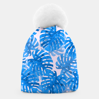 Thumbnail image of Blue tropical leaves Beanie, Live Heroes