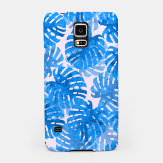 Thumbnail image of Blue tropical leaves Samsung Case, Live Heroes