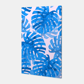 Thumbnail image of Blue tropical leaves Canvas, Live Heroes