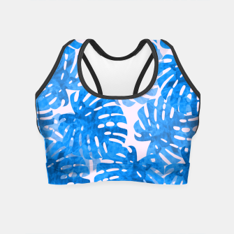 Thumbnail image of Blue tropical leaves Crop Top, Live Heroes