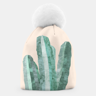 Thumbnail image of Watercolor of cacti Beanie, Live Heroes