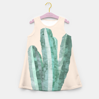 Thumbnail image of Watercolor of cacti Girl's Summer Dress, Live Heroes