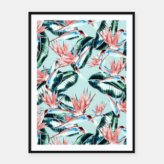 Thumbnail image of Pattern botanical II Cartel con marco, Live Heroes