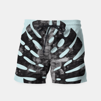 Thumbnail image of Tropical leaf watercolor Swim Shorts, Live Heroes