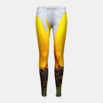 Thumbnail image of Blooming sunflower. Conceptual image Sun Rising Girl's Leggings, Live Heroes