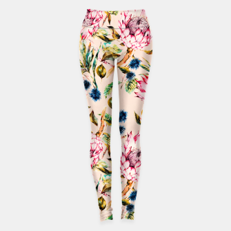 Thumbnail image of Pattern boho floral Leggings, Live Heroes