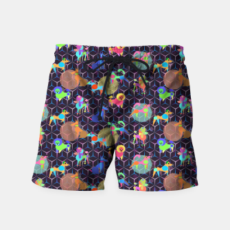 Thumbnail image of Space doggies Swim Shorts, Live Heroes