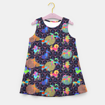 Thumbnail image of Space doggies Girl's Summer Dress, Live Heroes