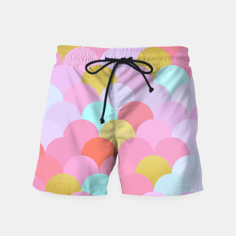 Thumbnail image of Golden and colorful spheres Swim Shorts, Live Heroes