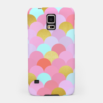 Miniatur Golden and colorful spheres Samsung Case, Live Heroes