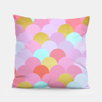 Miniatur Golden and colorful spheres Pillow, Live Heroes