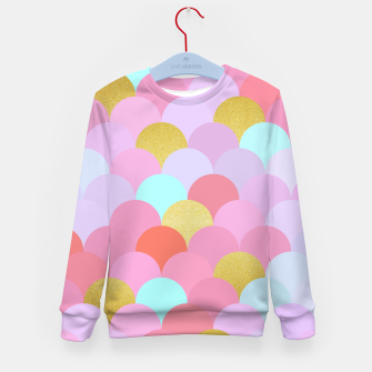 Miniatur Golden and colorful spheres Kid's Sweater, Live Heroes