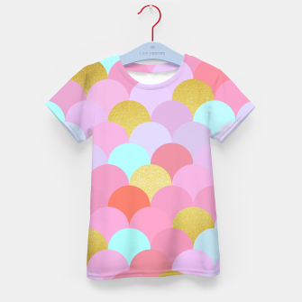 Miniaturka Golden and colorful spheres Kid's T-shirt, Live Heroes