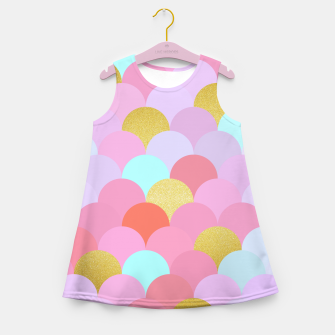 Miniaturka Golden and colorful spheres Girl's Summer Dress, Live Heroes