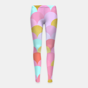Miniaturka Golden and colorful spheres Girl's Leggings, Live Heroes