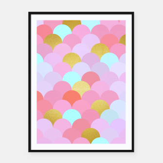 Miniaturka Golden and colorful spheres Framed poster, Live Heroes