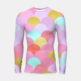 Miniatur Golden and colorful spheres Longsleeve Rashguard , Live Heroes