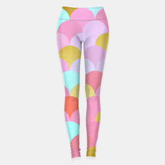 Miniatur Golden and colorful spheres Leggings, Live Heroes