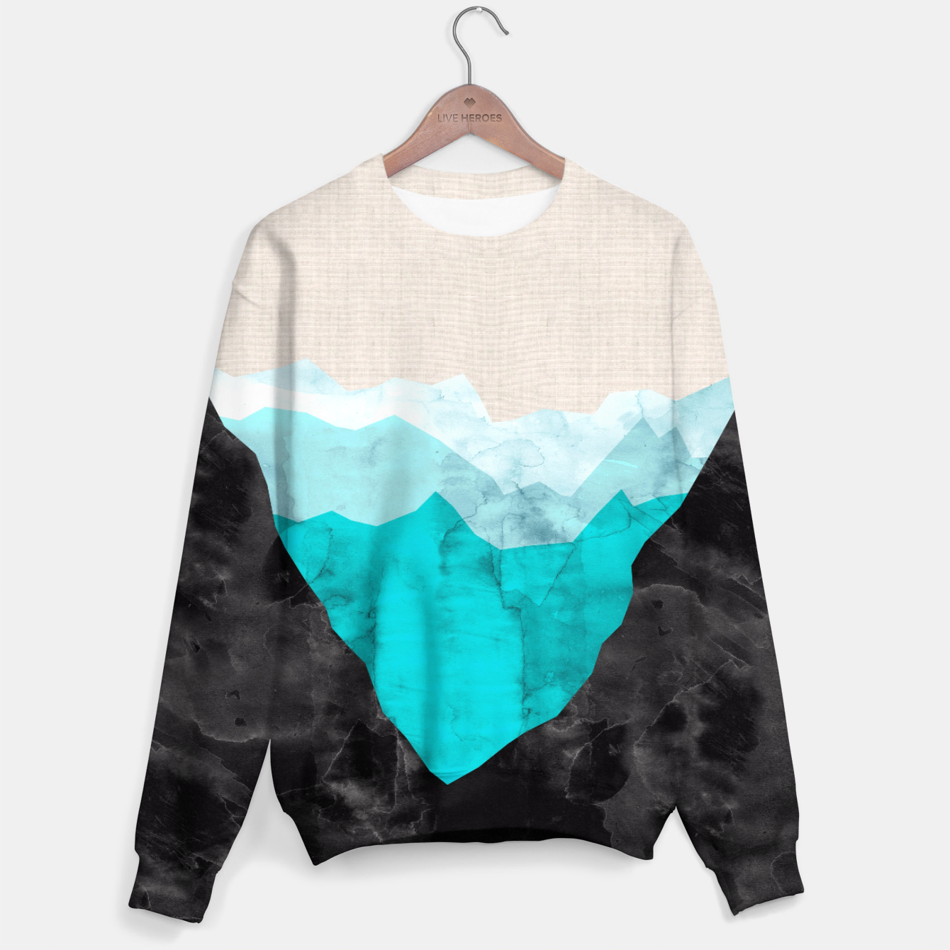 Image of Minimalist landscape watercolor Sweater - Live Heroes