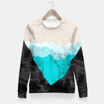 Miniatur Minimalist landscape watercolor Fitted Waist Sweater, Live Heroes