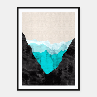 Miniatur Minimalist landscape watercolor Framed poster, Live Heroes