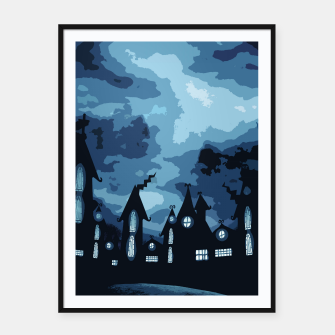 Thumbnail image of Mysterious night Framed poster, Live Heroes