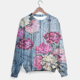 Thumbnail image of Shabby chic with painted peonies Sweater, Live Heroes