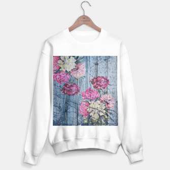 Thumbnail image of Shabby chic with painted peonies Sweater regular, Live Heroes