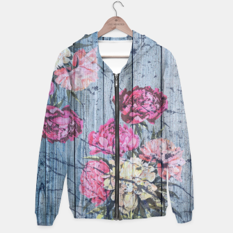 Thumbnail image of Shabby chic with painted peonies Hoodie, Live Heroes