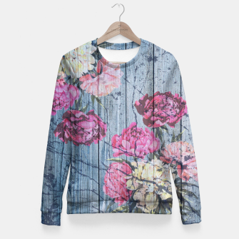 Thumbnail image of Shabby chic with painted peonies Fitted Waist Sweater, Live Heroes