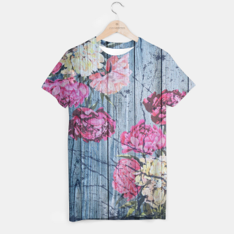 Thumbnail image of Shabby chic with painted peonies T-shirt, Live Heroes