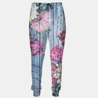 Thumbnail image of Shabby chic with painted peonies Sweatpants, Live Heroes