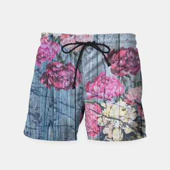 Thumbnail image of Shabby chic with painted peonies Swim Shorts, Live Heroes