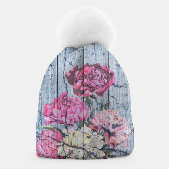 Thumbnail image of Shabby chic with painted peonies Beanie, Live Heroes