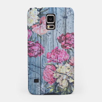 Thumbnail image of Shabby chic with painted peonies Samsung Case, Live Heroes