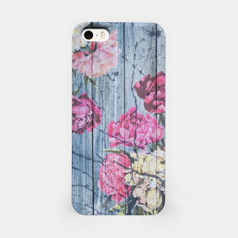 Thumbnail image of Shabby chic with painted peonies iPhone Case, Live Heroes