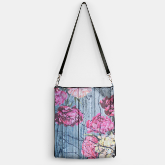 Thumbnail image of Shabby chic with painted peonies Handbag, Live Heroes