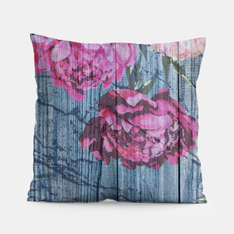Thumbnail image of Shabby chic with painted peonies Pillow, Live Heroes