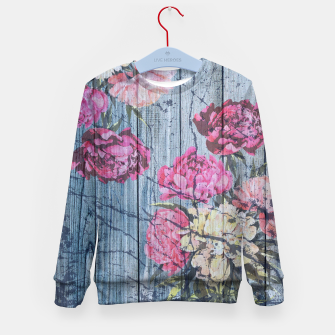 Thumbnail image of Shabby chic with painted peonies Kid's Sweater, Live Heroes
