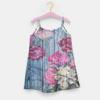 Thumbnail image of Shabby chic with painted peonies Girl's Dress, Live Heroes