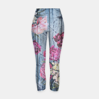 Thumbnail image of Shabby chic with painted peonies Yoga Pants, Live Heroes