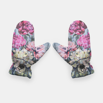 Thumbnail image of Shabby chic with painted peonies Gloves, Live Heroes