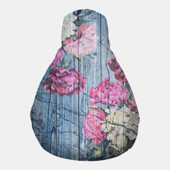 Thumbnail image of Shabby chic with painted peonies Pouf, Live Heroes